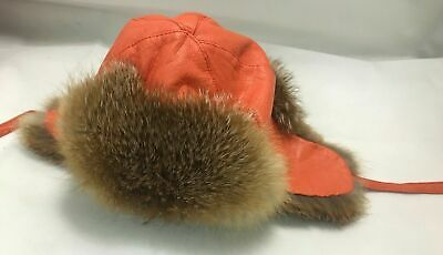 Trapper Hat Leather With Real Fur For Boys Or Girls