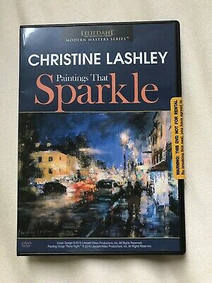 CHRISTINE LASHLEY: PAINTINGS THAT SPARKLE - Art Instruction DVD-Watched Once!