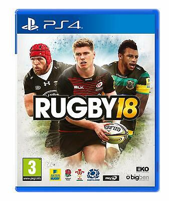 Rugby 18 [Sony PlayStation PS4 Region Free Sports Bigben Interactive Career] NEW