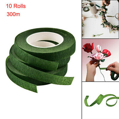 10 Rolls Durable Rolls Waterproof Green Florist Stem Elastic Tape Floral Flower