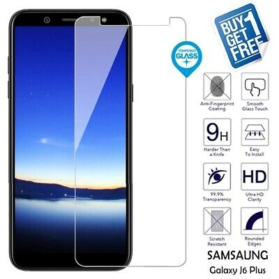 2x For Samsung Galaxy J6 Plus 2018 Genuine Tempered Glass Screen Film Protector