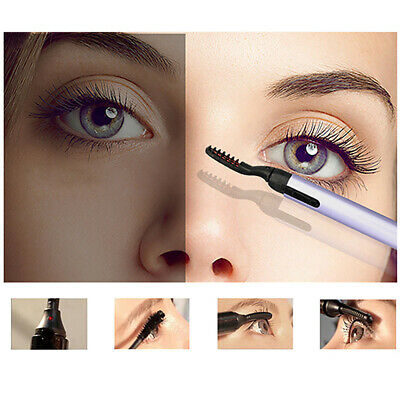 Portable Electric Heated Eyelash Curler Pen Eye lashes Makeup Tools *AU STOCK
