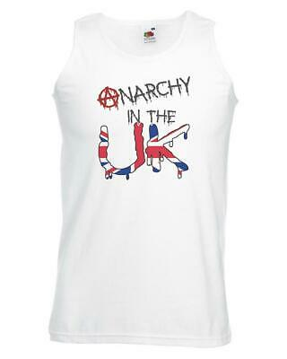 Unisex White Anarchy In The UK Vest Punk Rebellion