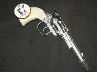 beer tap handle old western six shooter hamms
