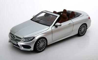 1:18 iScale Mercedes C-Class (A205) Convertible 2016 silver