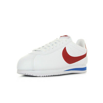 magasin en ligne eb553 8544b CHAUSSURES BASKETS NIKE homme Classic Cortez Leather taille Blanc Blanche  Cuir