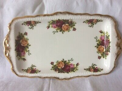 "Beautiful  Royal Albert ""Old Country Roses"" Rectangular Sandwich Plate In Vgc"