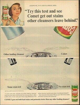 Vintage ad for Comet with Josephine, Tv's Lady Plumber retro Can photo