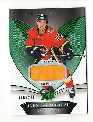 Johnny Gaudreau Nhl 2018-19 Upper Deck Trilogy Green (Yellow Jersey) Flames /288