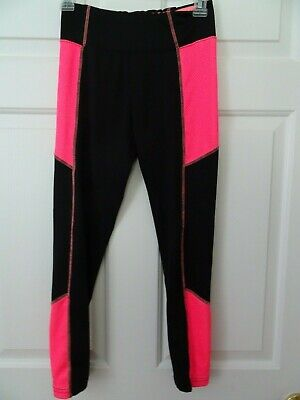 Justice Girls Black/Pink Leggings/Pants Size 12--Year Round Wear-LKN