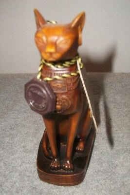 "AL ASEEL Egyptian Cat Statue Resin Compound - Lovely Collectors Item   5.5"" Tall"