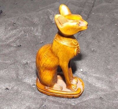"Egyptian Cat Statue Resin Compound Item Approx. 3"" Tall w/o AL ASEEL Tags Unique"