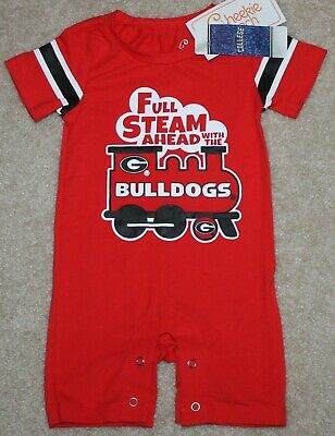 New! Boys Georgia Bulldogs Coverall (Outfit; NCAA; Full Steam) - Size 6-12 mo