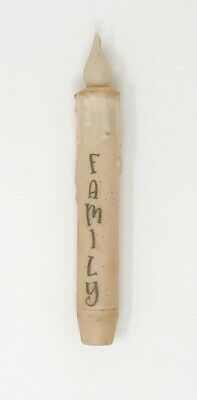 "Rustic Country Primitive Farmhouse 7"" Burnt Ivory Family Timer Taper Candle"