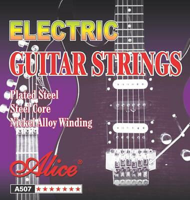 Set of 6 Acoustic .009-.042 Electric Guitar Strings Light Gauge Replacement UK