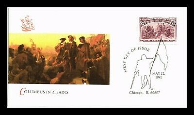 Dr Jim Stamps Us Columbus In Chains High Value First Day Cover Chicago