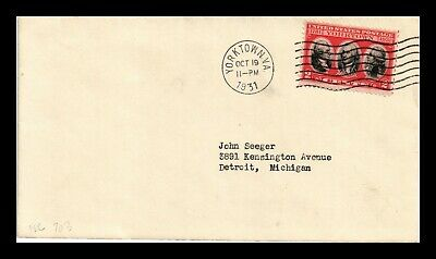 Dr Jim Stamps Us Yorktown First Day Cover Scott 703 Uncacheted