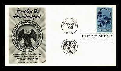 Dr Jim Stamps Us Employ The Handicapped First Day Cover New York