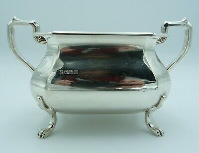 Handsome Silver Sugar Bowl 1914 With 4 Feet / Cooper Brothers & Sons Ltd