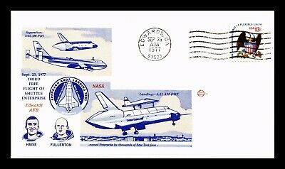 Dr Jim Stamps Us Third Free Flight Shuttle Enterprise Space Event Cover 1977