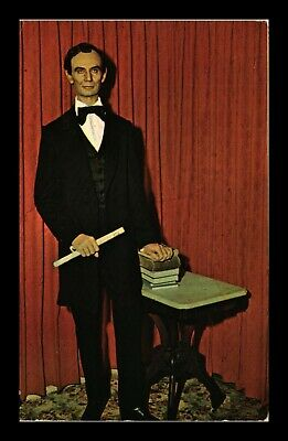 Dr Jim Stamps Us Springfield Lincoln Wax Figure Topical Chrome Postcard