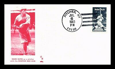 Dr Jim Stamps Us Babe Ruth Boston Red Sox Baseball Fdc Cover Pitcher New York