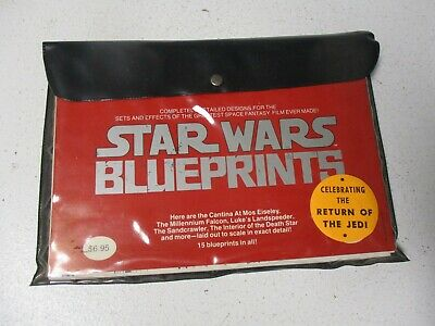 Warehouse Find 1978 Star Wars Original Blueprint Set-15 Sheets in Pouch