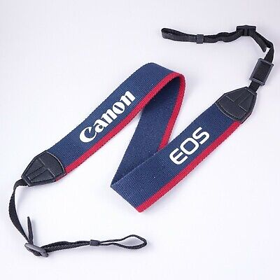 """Genuine Canon 1.5"""" Wide Neck & Shoulder Strap for EOS Camera, Navy & Red #QK9"""