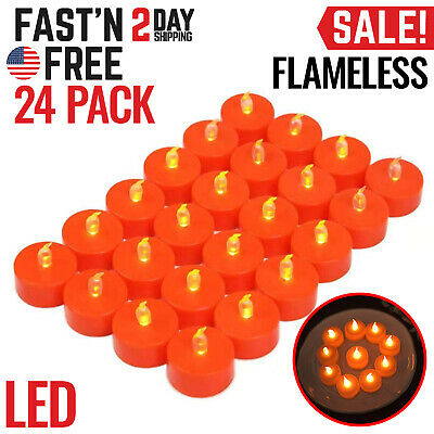 Flameless Candles LED Battery Operated Electric Tea Lights Artificial No Flame
