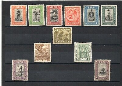 Papua New Guinea 1932 set to 1s3d mixed mint & fine used.