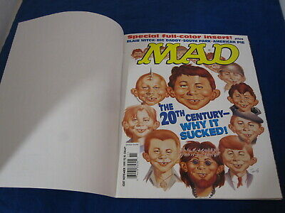 Mad Magazine # 387 Mint, Nov 1999 20th Century Why It Sucked Subscription Cover