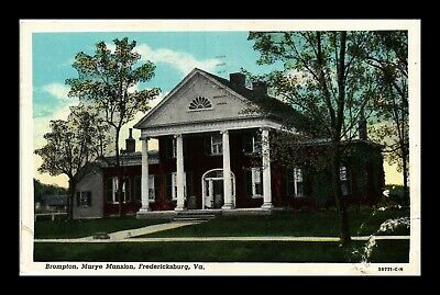 Dr Jim Stamps Us Brompton Marye Mansion Fredericksburg Virginia Postcard