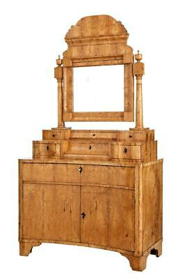 Early 19Th Century Birch Russian Biedermeier Vanity Dressing Cabinet