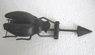Vintage Old Iron Beetle Insect Weather Vane , Weathervane