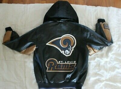 9c9c255e NFL ST. LOUIS Rams Embroidered Genuine Leather Jacket by G-III ...