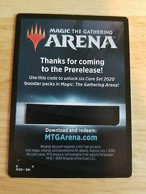 Core Set 2020 M20 Email Code Only Magic The Gathering Arena  6 Free Booster Pack
