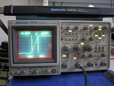 Calibrated TEKTRONIX 2467B 400MHz Briteye OSCILLOSCOPE; extras available - read