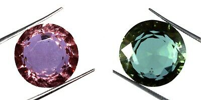 Russian Color Changing Alexandrite Gemstone 21.55 Ct Round Cut Certified K2632