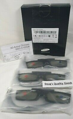 3 X Samsung SSG-5100GB Active 3D Glasses Battery Operated Black New