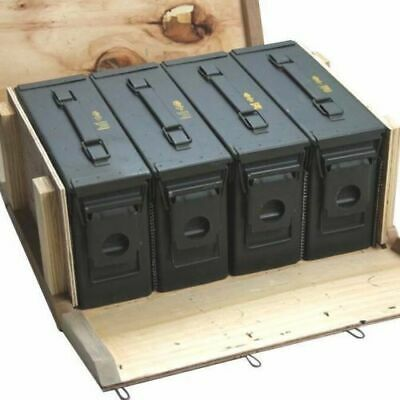 Ammo Box in Military Surplus Wood Ammo Crate 4 - M19A1 30cal Ammo Cans