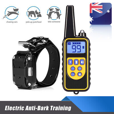 Waterproof LCD Display Training Pet Collar Electric Dog Rechargeable Anti-Bark