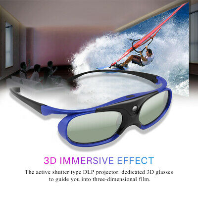 Universal DLP Active Shutter 3D Glasses 96-144Hz for Optoma Viewsonic Projector