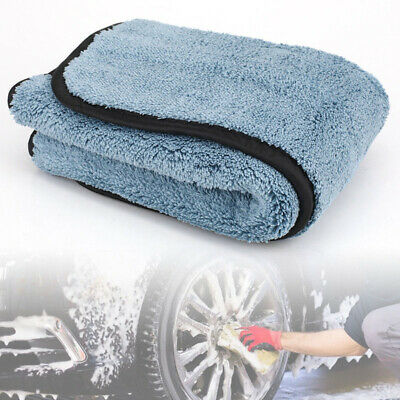 1X Absorbent Microfiber Towel For Car Home Kitchen Washing Clean Wash Cloth Blue