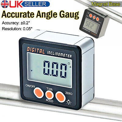 Digital Bevel Box Inclinometer Angle Gauge meter protractor 360 ° magnets/w UK