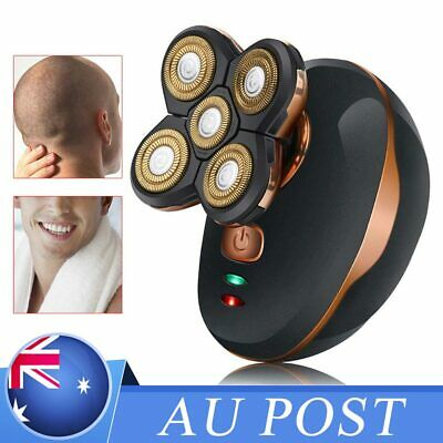 5in1 Men's Skull Head Electric Shaver Rechargeable Cordless Clipper Trimmer Au