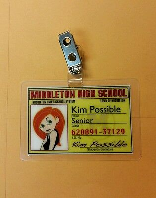 Kim Possible ID Badge - Middletown High School Kim Possible cosplay prop costume