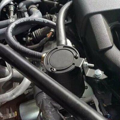 BLACK ALUMINUM OIL Catch Can Reservoir Tank With Breather