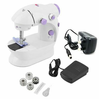 Electric Multi-function Portable Mini Desktop Sewing Machine Handheld Kit UK
