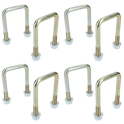 8 Pack M10 50mm x 80mm U-Bolt N-Bolt for Trailers with Nuts HIGH TENSILE