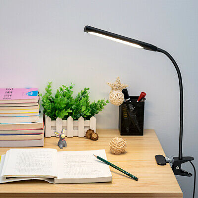 Kootion Modern Style Dimmable USB Clip-On Desk 48 LED Table Book Lamp 5W Light